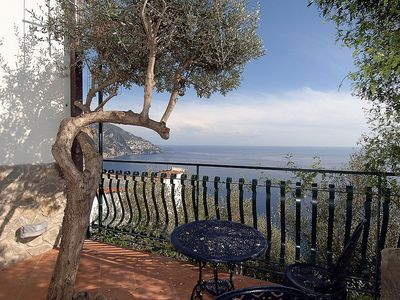 Photo for Villa Isidora C: A bright and cheerful villa set into the cliff, sheer above the sea, with Free WI-FI.