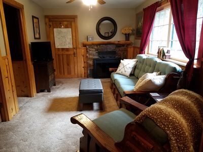 Photo for Mountain side cabin! Nice deck, great views, quiet retreat, newly updated!