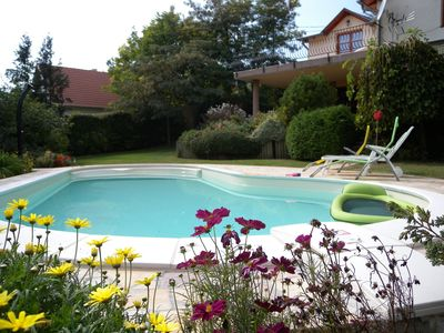 Photo for Holiday house with pool and view to Lake Balaton for families