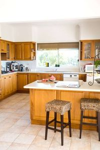 Large well equipped family sized kitchen