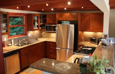 Fully stocked kitchen for the gourmet cook.