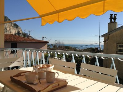 Photo for NEW! Center of Beaulieu Fully-Renovated Apartment With Sea View