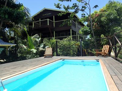 Photo for Driftwood Gardens Guest House- As seen on HGTV!  Large 2 BR suite with pool
