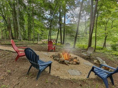 Photo for Bird Song Lake is a beautiful lakeview property with yard games and plenty of places to relax. Not p