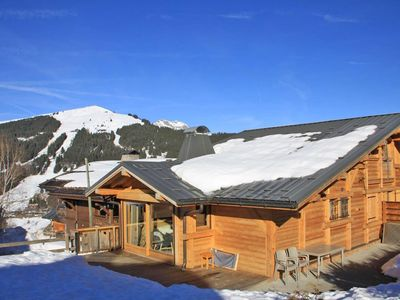 Photo for 5 room apartment / 10 people. Chalet adjoining Le Cabri located in the hamlet of Folliets, on