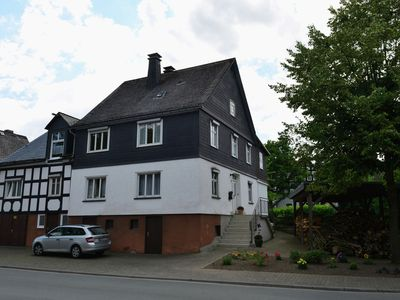 Photo for Bright apartment in the Sauerland with conservatory, large terrace and awning