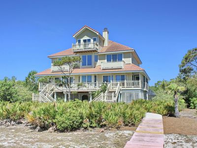 """Photo for Ready after Hurricane Michael! Plantation Beach View, Private Pool, Screened Porch, Fireplace, Elevator, Beach Gear, 6BR/5BA """"Sea Rose"""""""