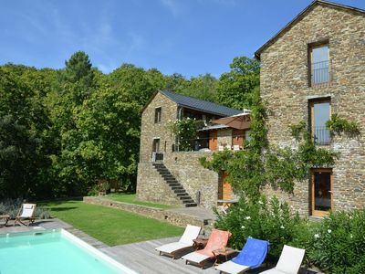 Photo for Luxury Mas entirely built of local stone and chestnut with exceptional views and heated pool