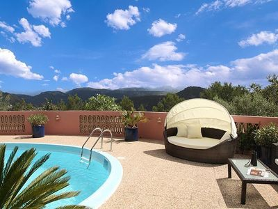 Photo for Villa with pool and fantastic view of Palma, 7000qm garden, W-Lan