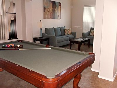 Formal Living Room with 8 Ft. Pool Table