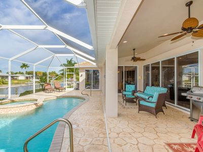 Photo for Magnificent Florida Water Front Vacation Home With Heated Salt Water Pool!