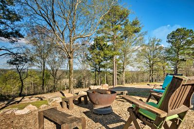There are numerous outdoor amenities on the property.