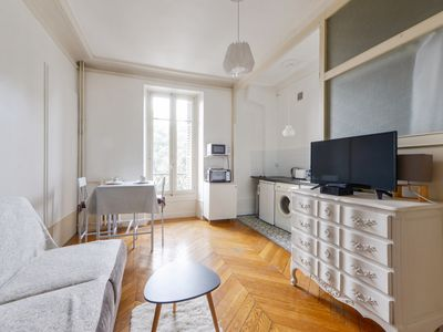 Photo for Nice studio in a former private hotel in Aix-les-Bains center - Welkeys