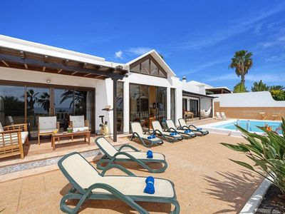 Photo for 4 bedroom Villa, sleeps 9 with Pool, FREE WiFi and Walk to Beach & Shops
