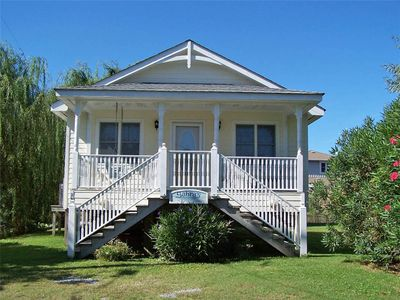Photo for Sabra's Cottage:  Perfect getaway for two near Ocracoke Lighthouse, screened porch.