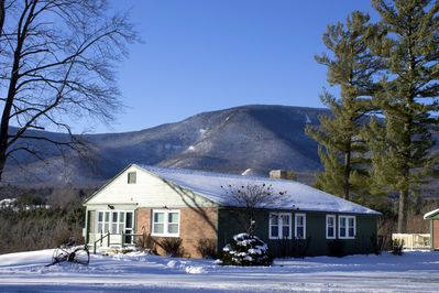 winter at the Innkeepers Cottage in Manchester VT at the Wilburton Inn.
