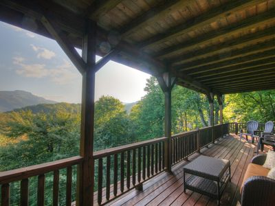 Photo for 4BR, Grandfather Views, Hot Tub, Pool Table, Close to Boone, Banner Elk, Ski Sugar Mtn, Zipline