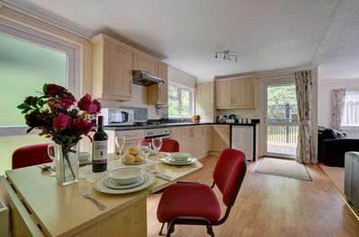 Kitchen/dining area of Waterside Lodge.