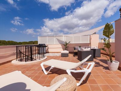 Photo for GOLDEN PENTHOUSE: Beach-Pool-Solarium-Wifi-PortAventura-BBQ-Golf