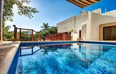 Photo for BEAUTIFUL VILLA  FOR 14 PEOPLE WITH PRIVATE POOL IN FRONT OF ENTRANCE BEACH