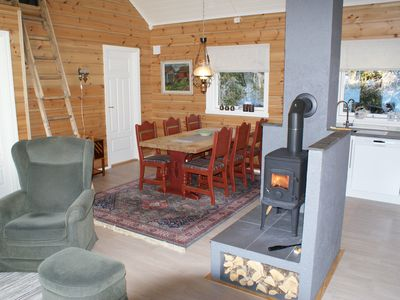 Photo for Newly built holiday home (2016) with view plot beyond Storfjorden and Sunnmørsalpane