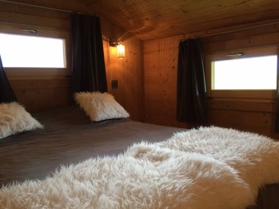Photo for MAZOT 4 PEOPLE FACING MONT BLANC READY STATIONS, Wifi, linen,
