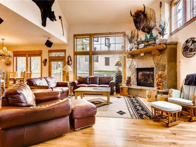 Photo for Gorgeous Mountain Townhome w/Private Deck for Summer Days and Pool Access!