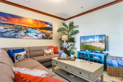 Family friendly Living room to catch up on conversations or relax watching movie