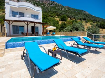 Photo for Spacious 4 Bedroom Villa with Secluded Heated Pool & Magnificent Sea Views