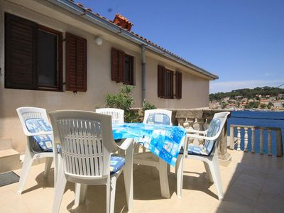 Photo for Three bedroom apartment with terrace and sea view Mali Lošinj (Lošinj)