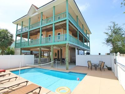 Photo for Gulf-front, private pool, hot tub, excellent for large groups