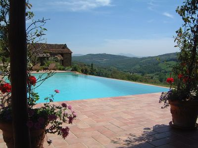 Photo for ROMANTIC FARMHOUSE - STUNNING PANORAMIC VIEWS - MAGNIFICENT PRIVATE POOL