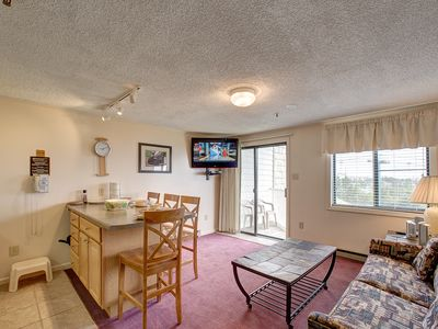 Photo for Mountain Lodge 1st Fl Perfect location,Slopeside, Lake view Now Booking Summer