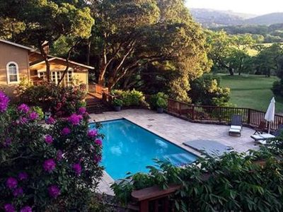 Photo for Blissful, Sonoma Estate Cottage with pool and hot tub on a vineyard.