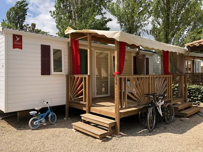 Photo for Mobile home for a dream holiday in camping La Carabasse 4 *