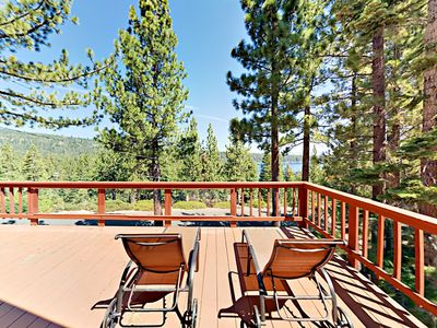 Photo for Charming 2BR w/ Spacious Deck, Fireplace & Lake Views - Near Parks & Beaches