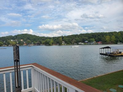 """The FUN starts HERE! 240' of waterfront in Capt. Ron's """"NO WAKE"""" cove 1 acre lot"""