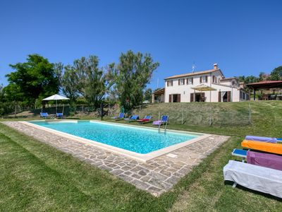 Photo for Villa in hilly landscape with private swimming pool and amazing view