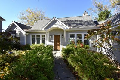 Front of Sunset Cottage with gated garden!