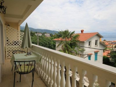 Photo for Three bedroom apartment with balcony and sea view Lovran (Opatija)