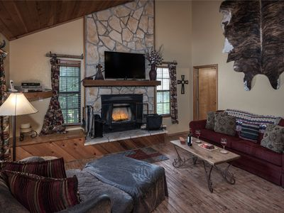 Photo for High Cotton, charming mountain cabin in wonderful forest setting.