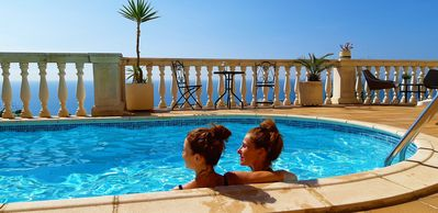 Photo for ASHRAM VILLA SUNSHINE - A PARADISE WITH SPECTACULAR VIEWS OVER THE MEDITERRANEAN