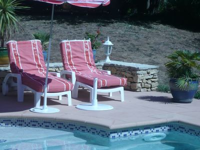 Photo for SMALL HOUSE IN GARDEN OF 3000 M2 - SWIMMING POOL OF 11 m./ o5 m. - QUIET AND SHADOW