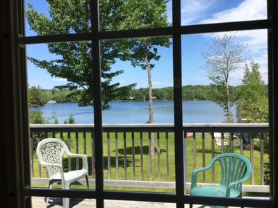 View of Lake from dining room and upper deck.