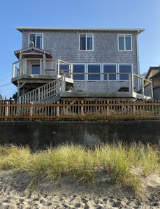 Charlie's Place oceanfront, with the perfect deck to enjoy the ocean view!