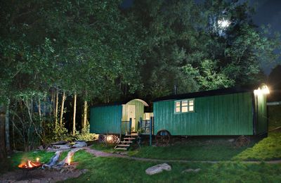 Photo for Anne's Hut offers a romantic retreat for two in two interlinked shepherd's huts with decking area an