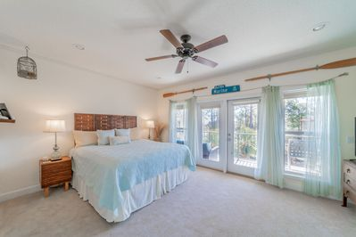 Upper Master Bedroom with Gulf View in background