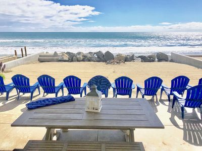 Photo for ON the Beach! Beachfront Rental, Stunning ,Spacious, Private Beach, TWO Kitchens