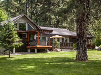 Photo for Riverside Cabin—mountains, river, woods, sandy beach