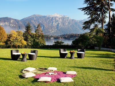 Photo for Spacious Garden Apartment With Lake And Mountain Views Sleeping Up To 8 Guests